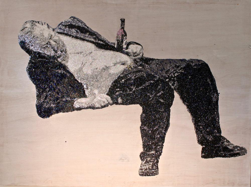 w i n o :: f o u r  glitter on plywood  48'' x 33''   CONTACT FOR MORE INFO