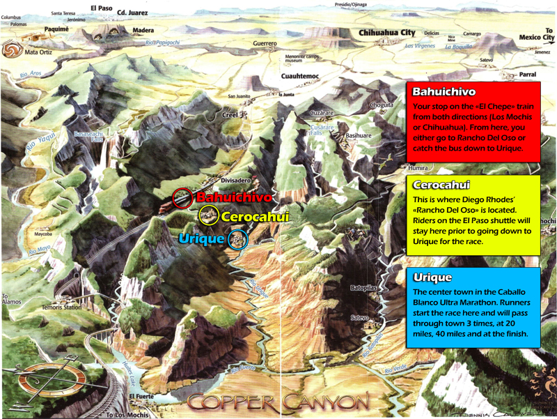 Barrancas del cobre Map-Small