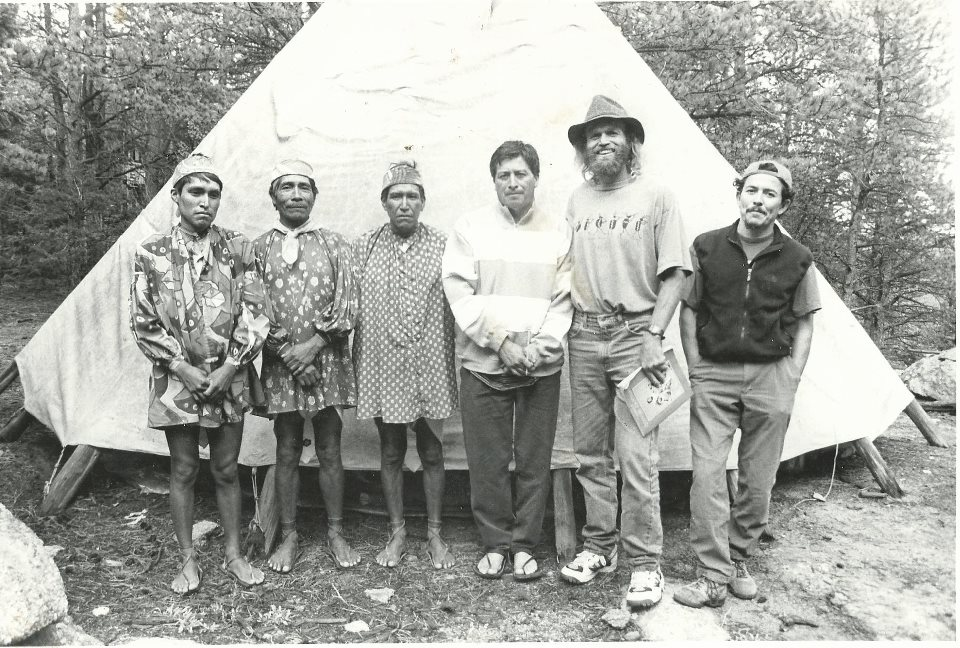 Micah True in Colorado with Raramuri runners in the 90's