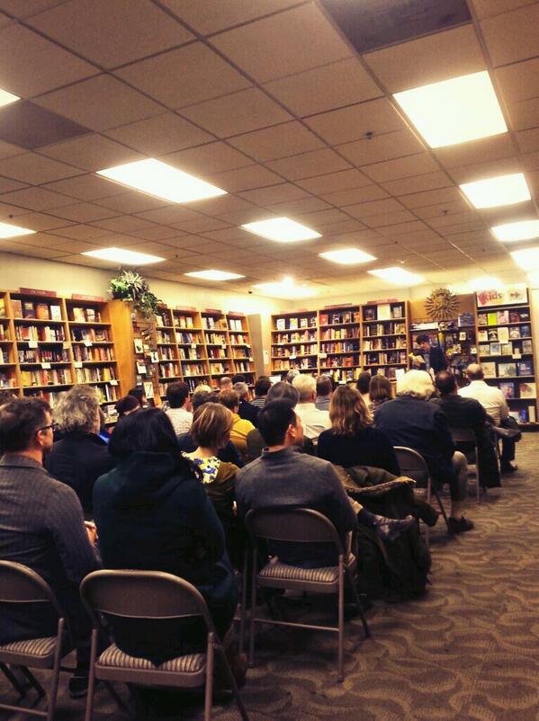 Jason packed the house at San Fransisco's  Books Inc.  on February 15th. It was one the best crowds of the tour.