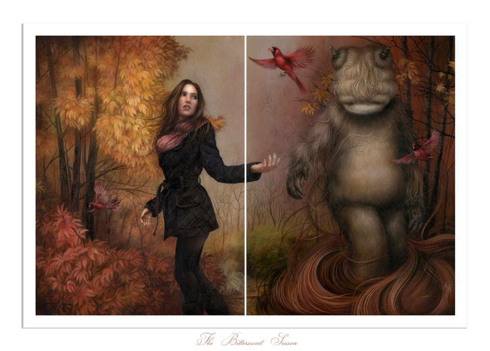 A limited edition print of my latest painting,  The Bittersweet Season  will be available for purchase in my shop on Thursday, 11/1 @ 12pm EST and will remain available for 24hrs (unless it sells out sooner). Click the image above for more details.