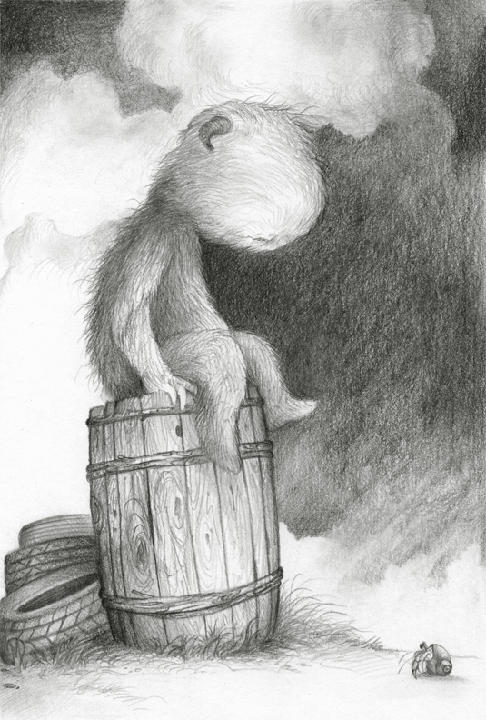 "Before the Storm (drawing) graphite on bristol 7"" x 10"" / 14"" X 17"" framed & matted $500 SOLD"
