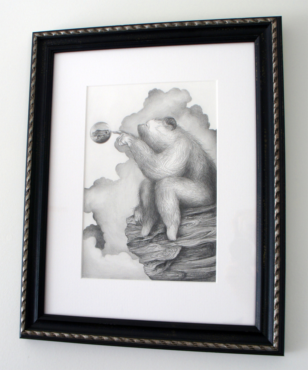 "The Drifter (drawing) graphite on bristol 7"" X 10"" / 14"" X 17"" framed & matted $500 SOLD"