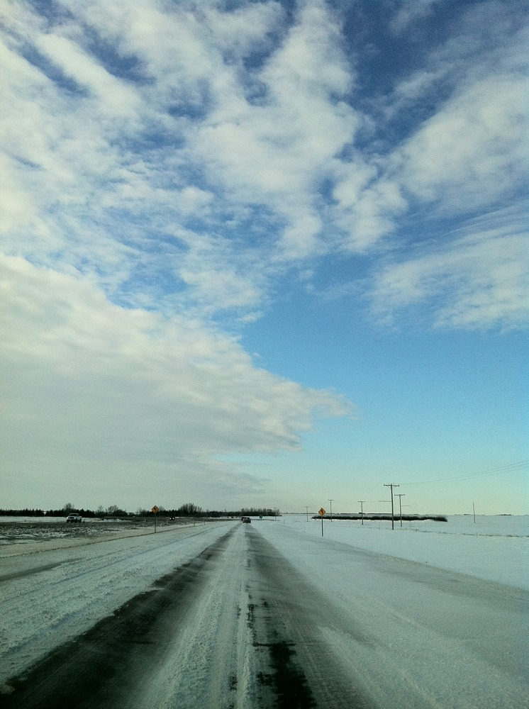 On the road to Lumsden, Saskatchewan