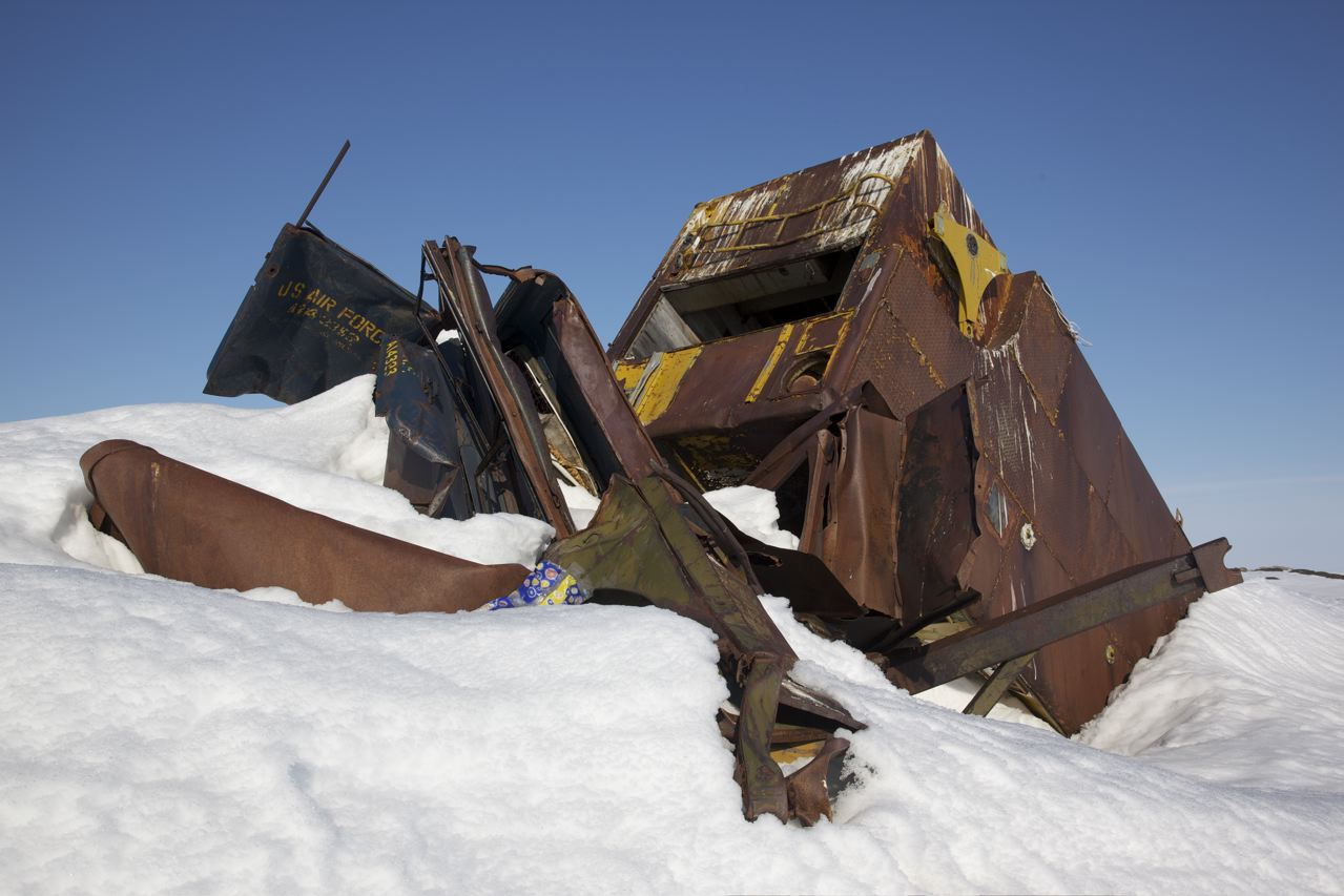 The monument that would commemorate the founding of Iqaluit