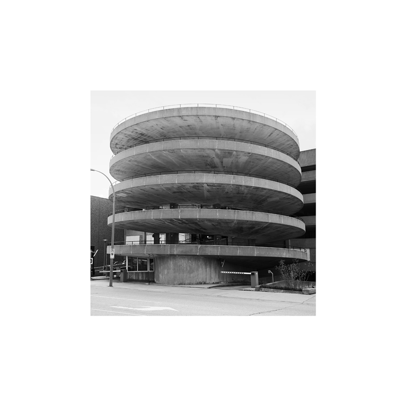 Helix: City of Kitchener parking garage at Duke and Ontario Streets, 1967     Archival Inkjet Print, 111x111cm, 2009