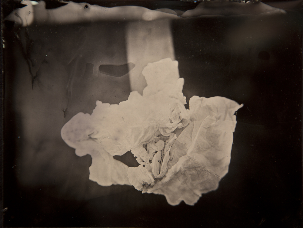Antique Cloud #1, Alumitype (Wet Plate Collodion), 4 x 5 inches (15.25 x 16.5 inches framed), 2011