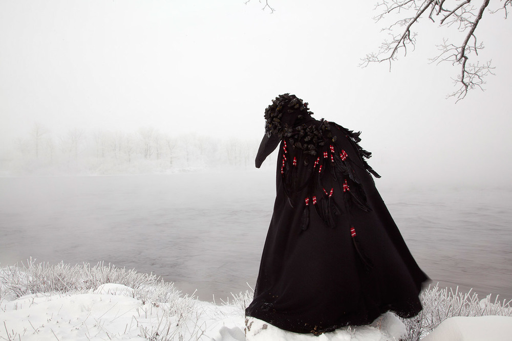 Meryl McMaster,  Wingeds Calling  from  In Between Worlds , 2012