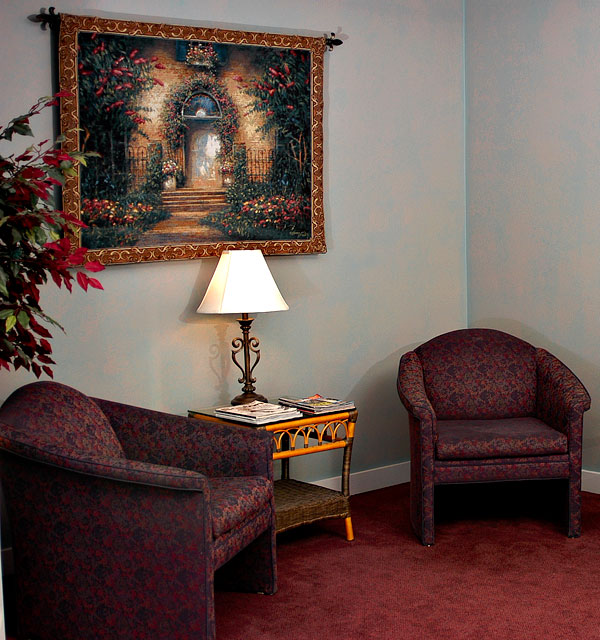 Our comfortable reception area
