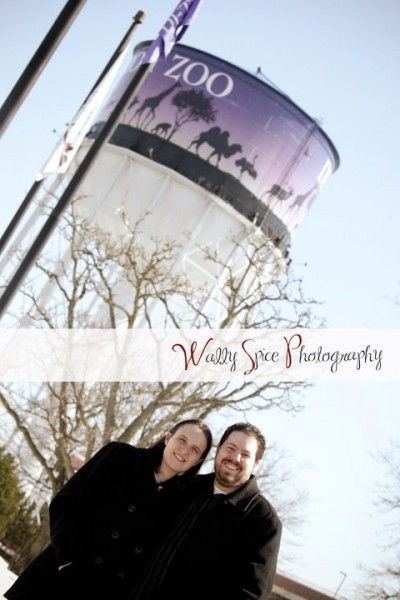 Molly and Justin, Engagement session at the Detroit Zoo