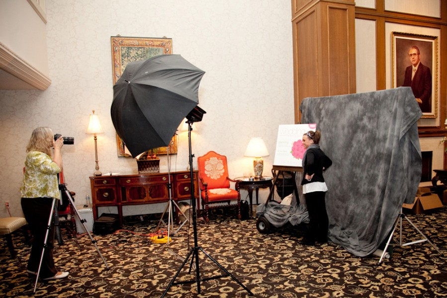 Wally Spice Photography taking the photos of the brides for the PWG bridal show.