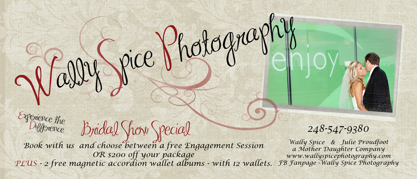 Our final flier with the show specials for Wally Spice Photography