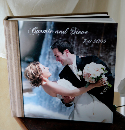 Photo Set Up And Used In An Ad For Our Album Company With One Of Great Wedding Couples