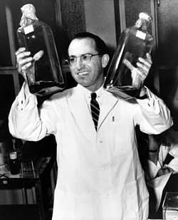 Jonas Salk never patented the polio vaccine and distributed it freely with no interest in personal profit.