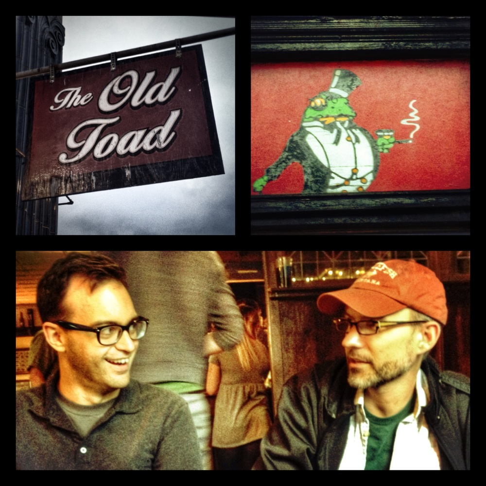Matt and Frank Cifaldi enjoy a bite at the Old Toad in Rochester, NY.