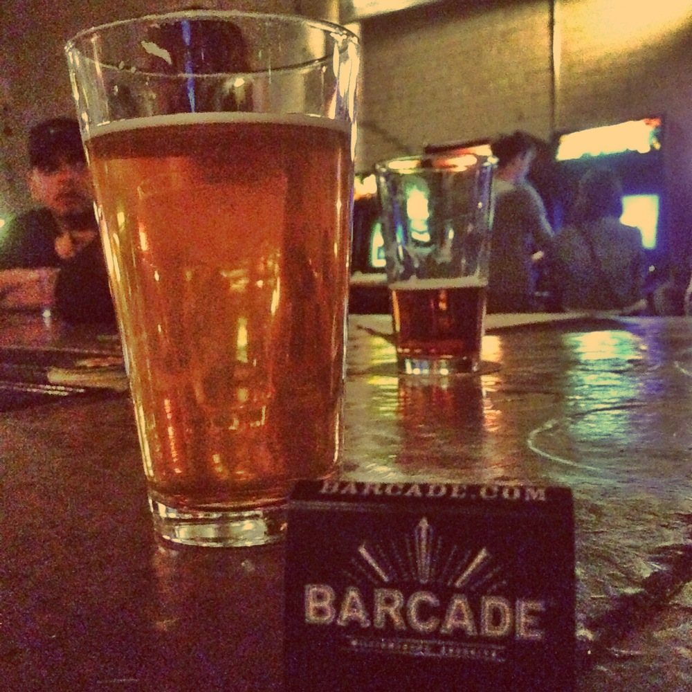 "Barcade in New York City. ""Barcade"" has also become a term for establishments that feature alcohol and videogames as adult leisure spots."