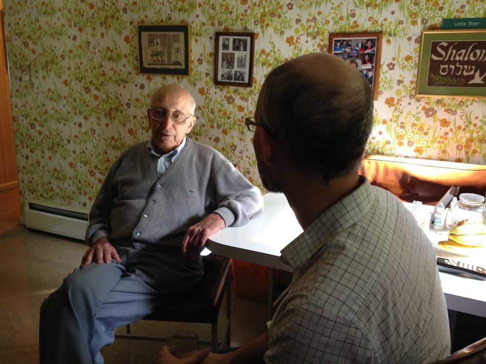 Matt chats with Ralph Baer, 93, creator of the first home videogame console in his Kitchen.