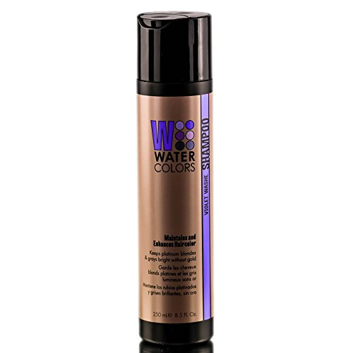 Tressa Watercolors Color Maintenance Violet Wash Shampoo The ultimate purple shampoo for your blonde hair.  Perfect for color treated hair, or to enhance your natural blonde colour.  Available in our salon.