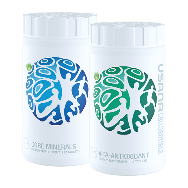 USANA Core Minerals & Vita-Antioxidant   Hair By Bank's favourite cellular nutritional combination for biotin production.   Healthy, well-nourished cells help you live your best life. Vita-Antioxidant™— part of the USANA® CellSentials™ cellular nutrition system—supports the health and normal longevity of your cells. It supplies carefully balanced levels of high-quality vitamins that provide an essential foundation of optimal nourishment and powerful antioxidant protection.*  Vita-Antioxidant goes deeper with the patent-pending USANA InCelligence Technology®. The proprietary cell-signaling technology in the USANA InCelligence Complex uses key nutrients that speak your cell's language to help activate protective and renewal process in your body. These processes act like strength training for your cells and help your body meet your unique health needs.*  Because vitamins and other micronutrients require mineral cofactors to function properly, Vita-Antioxidant should be taken with Core Minerals™ for best results.*