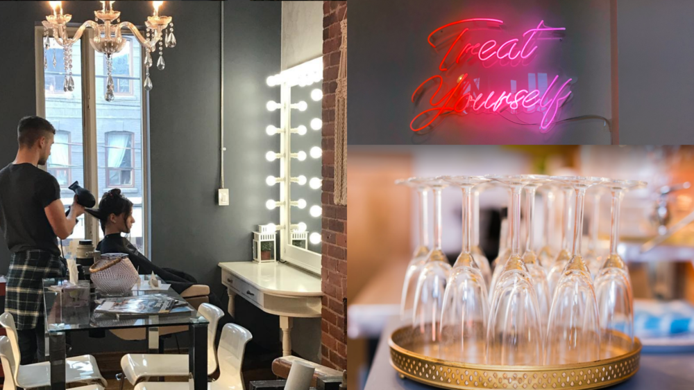 Tuesday Blowout Trio - Get a Blowout, Treatment and Glass of Prosecco for $45, only on Tuesdays with Sean.#BookWithSean