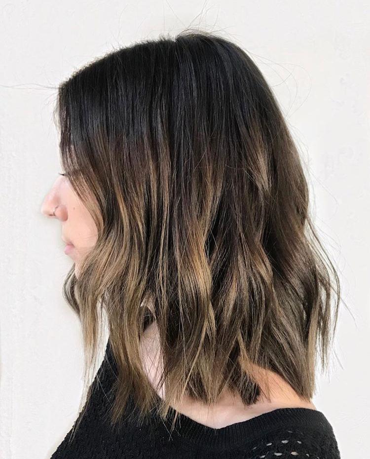 Short Brunette Balayage Top Hair Salon Queen West.jpg