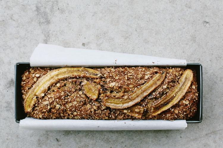 choco-oat-nut roasted banana bread | tara o'brady