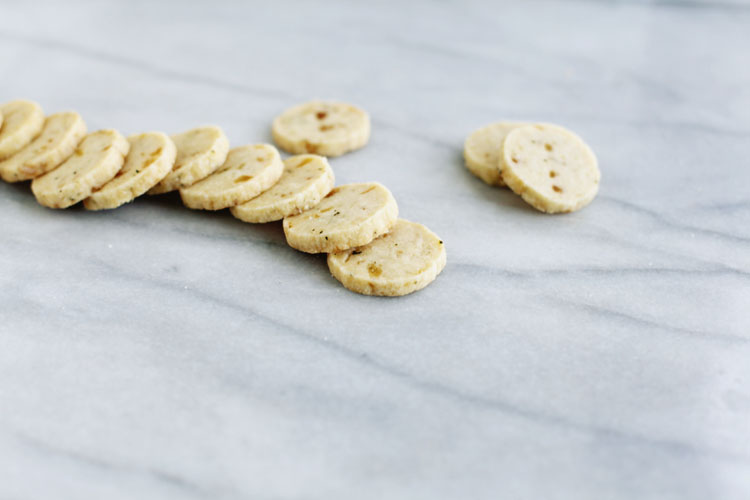 molly's rosemary + candied ginger shortbread   seven spoons