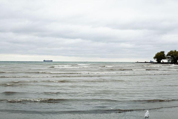 Ships on Lake Ontario   Tara O'Brady