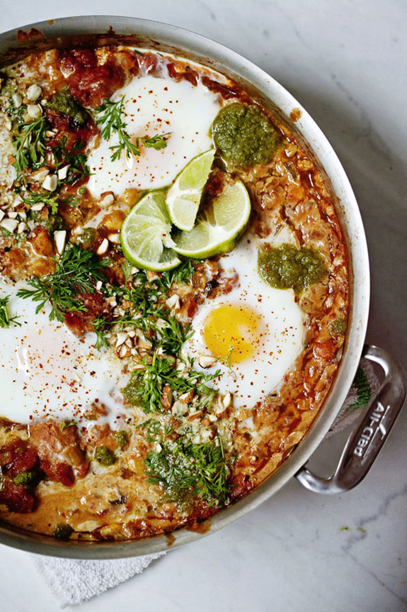 Baked Eggs, North Indian Style