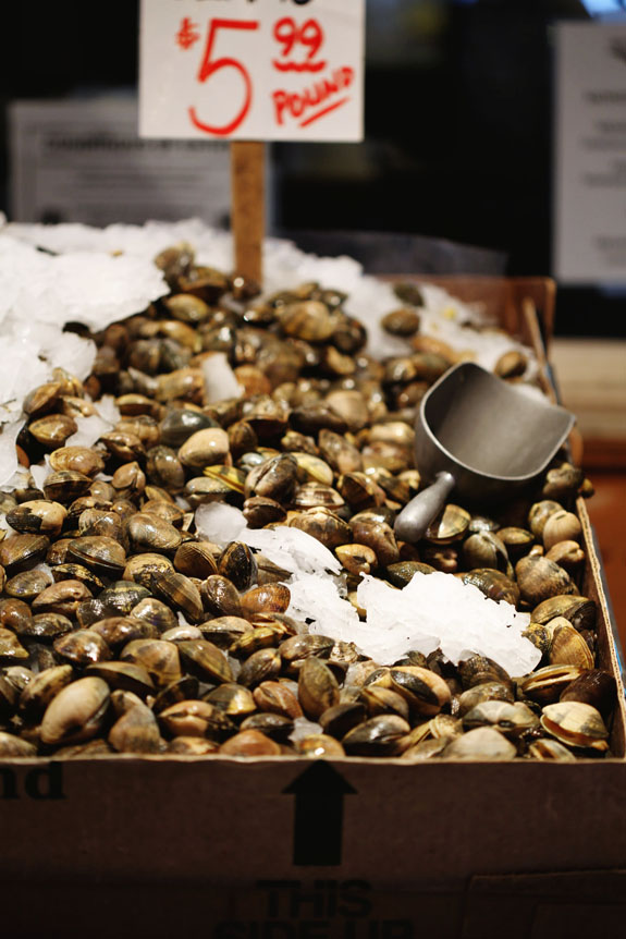 Pike Place Market clams