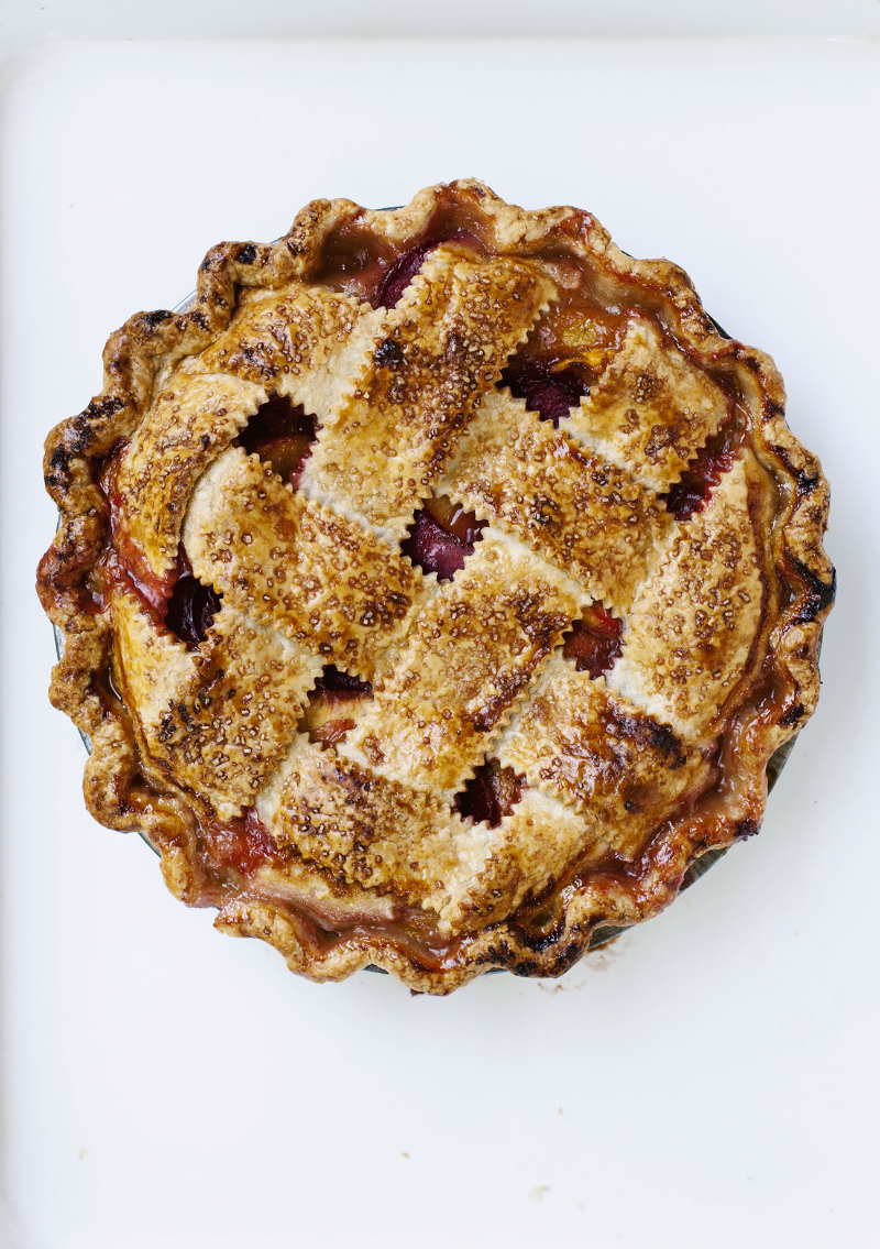 Peach Plum Pie for the Globe + Mail | Tara O'Brady