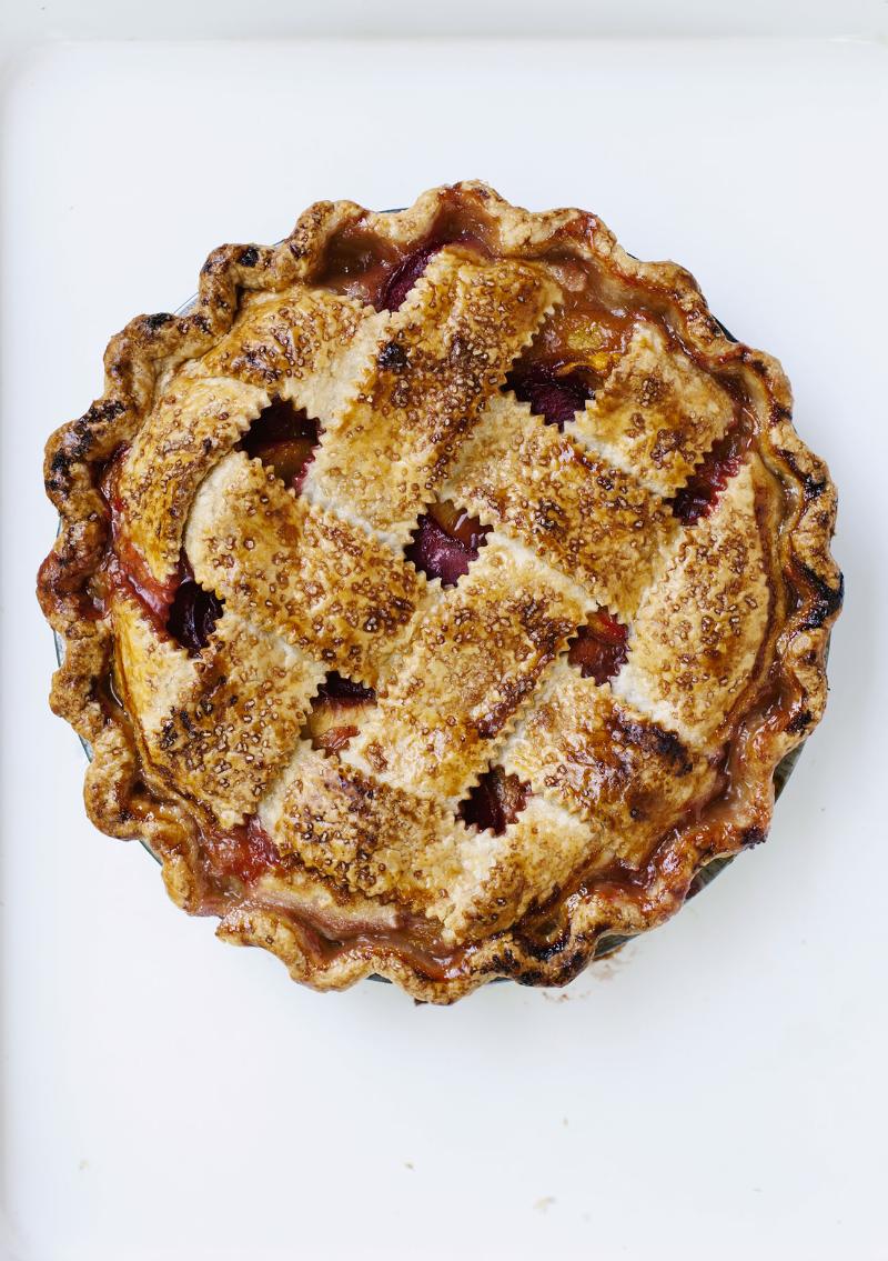 Peach Plum Pie for the Globe + Mail | Tara O'Brady
