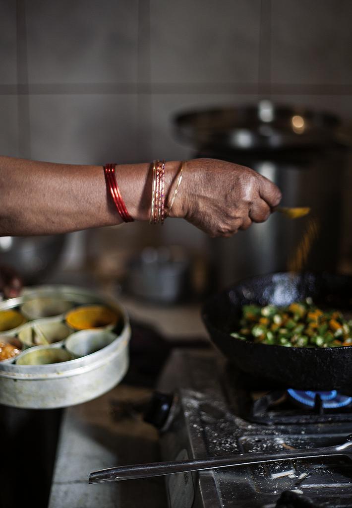 Her arm while she cooks | Tara O'Brady