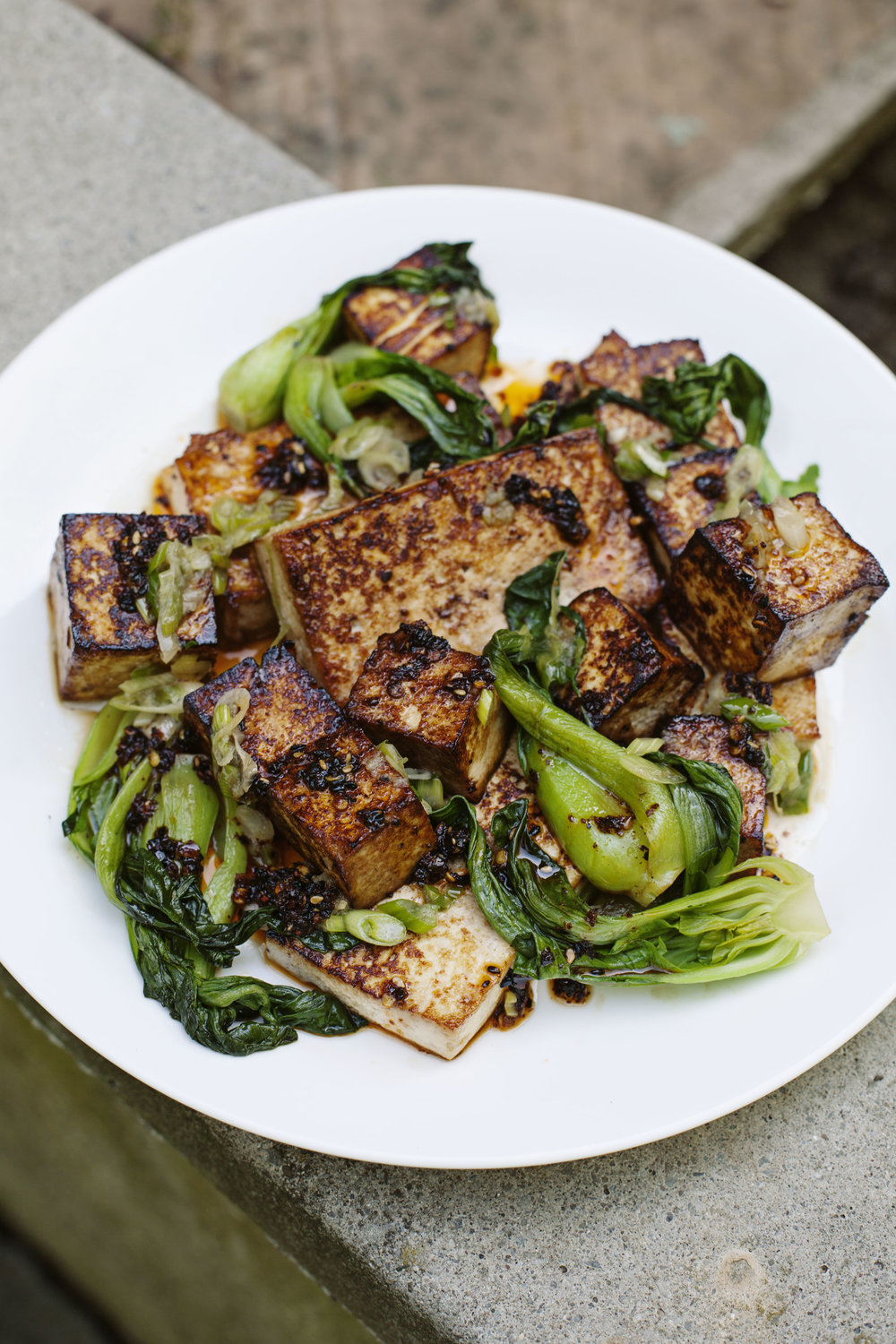Seared Tofu with Two Sauces