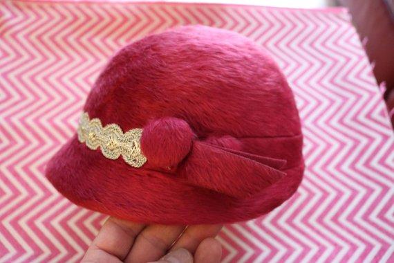 Vintage pink formal hat,  Etsy, $11