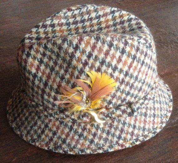 Vintage Harris tweed fedora , Etsy, $25