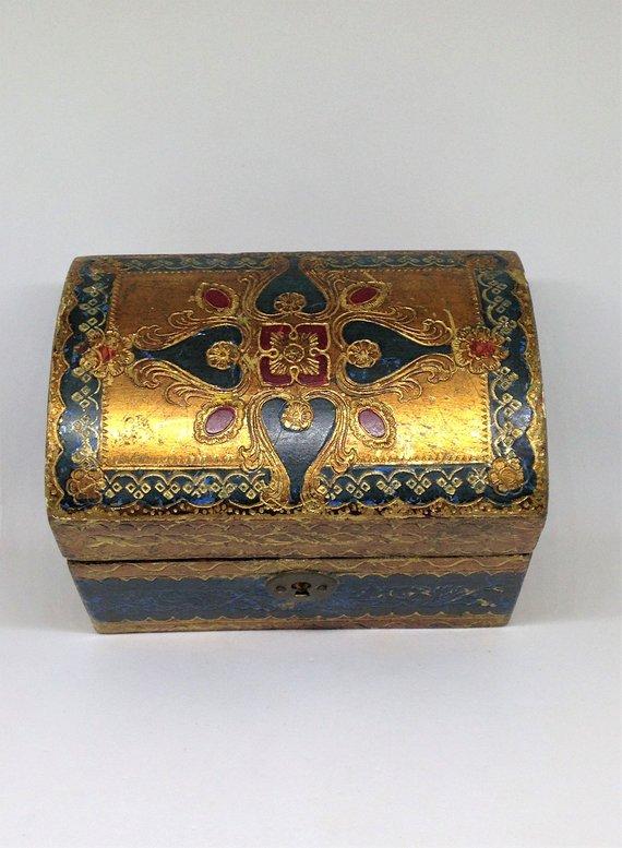 Florentine treasure chest box , Etsy, $16