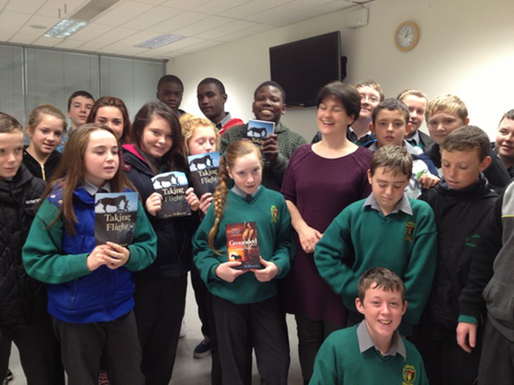 St. Ciaras with author Sheena Wilkinson