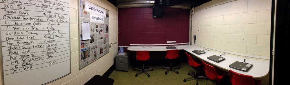 Our new press room- Thanks Mr. Shortall and Mr. Whyte!