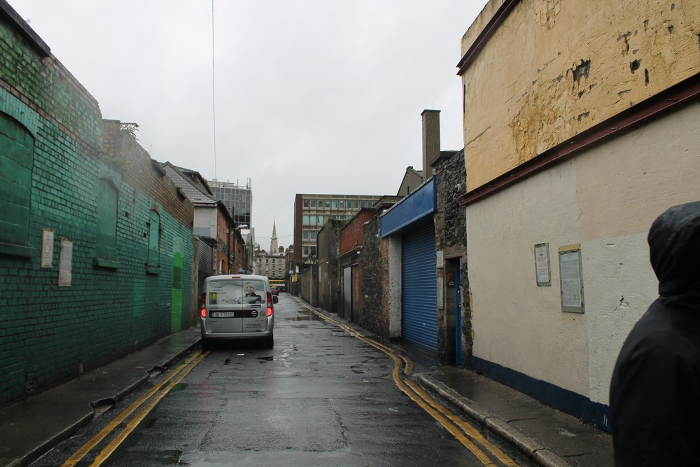 A lane which the rebels would have ran up after leaving the GPO