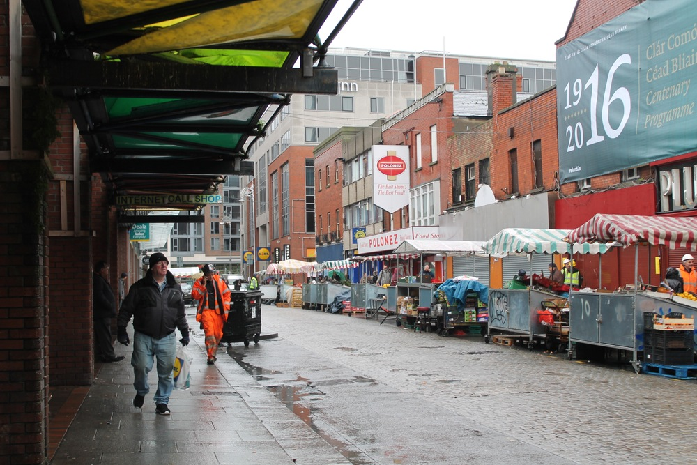 Moore St- The rebels ran here to negotiate surrender