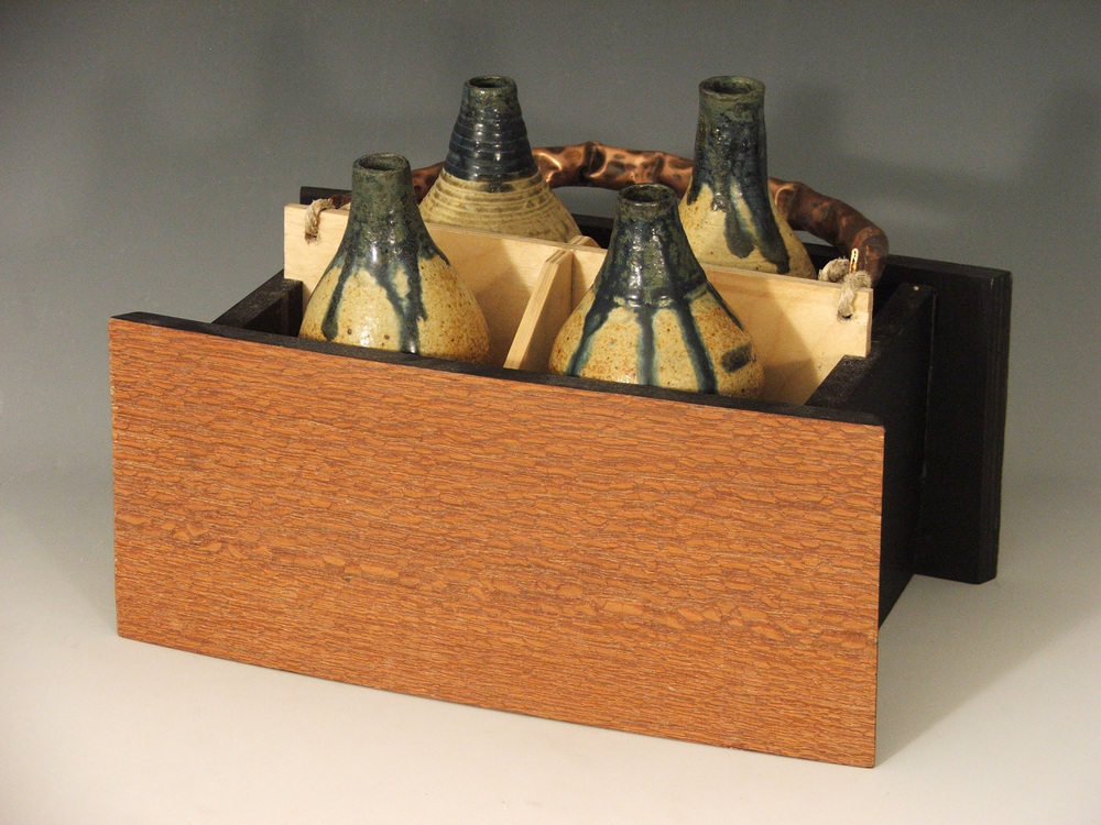 "Ole' Timer,  2008   10"" x 6"" x 8""  Leopard-wood, Copper, Cone 10 Stoneware, Ash glazes"
