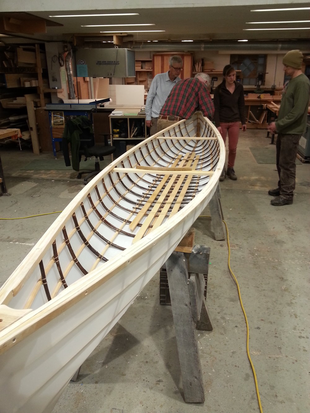 Traditional Willow Rib Canoe