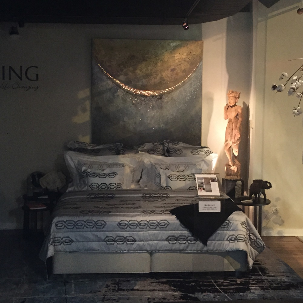 Life in Lunar (72x60) at Chicago Luxury Beds designed by Kenneth Walter
