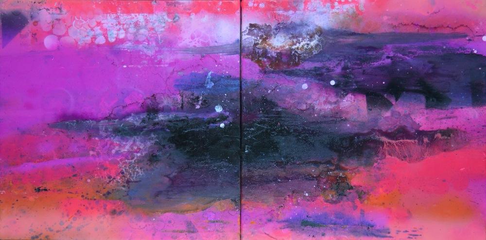 Pink Diptych - Sarah Raskey