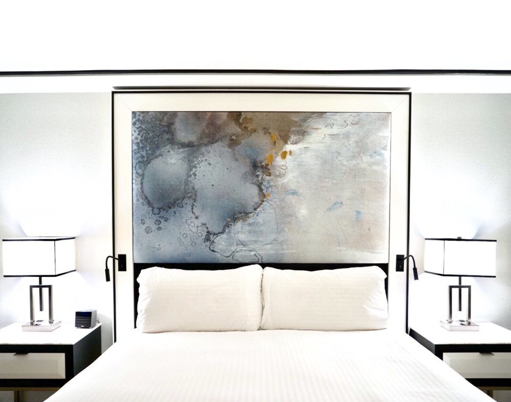 H A L O  - Featured above as an upholstered headboard and/or larger scale mural in all 750+ guest rooms and suites at the Loews Miami Beach Hotel.  sc 1 st  Sarah Raskey & LOEWS MIAMI BEACH HOTEL u2014 SARAH RASKEY FINE ART