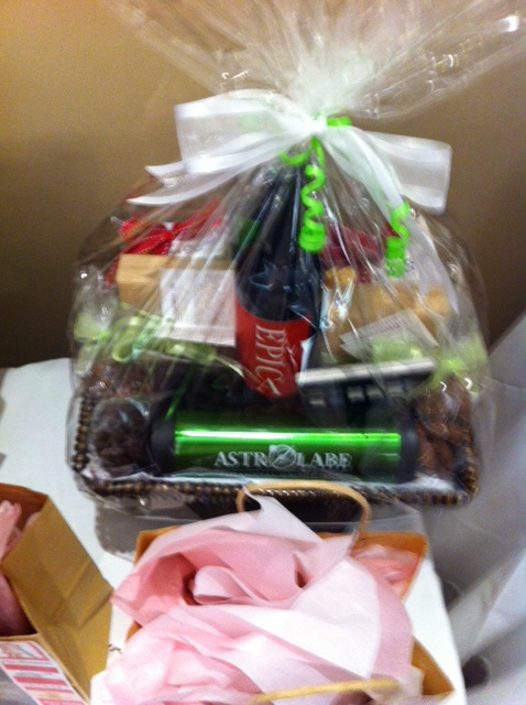Gift basket we donated for the silent auction