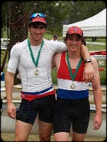 Isaac pictured above with younger brother Ben at the Port Macquarie Regatta 2012.