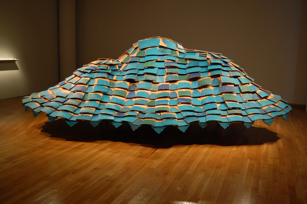 "Tom Lauerman & Shannon Goff, Hovercraft, Ceramic & wood, 2008, 240"" x 120"" x 74"""