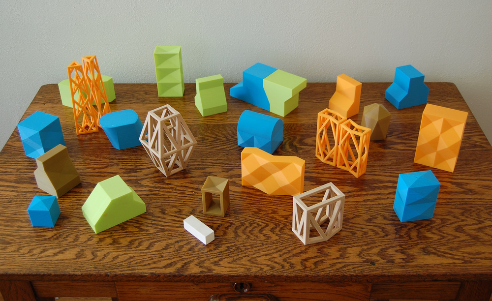 Works-In-Progress / Experiments in 3D printing, summer 2014